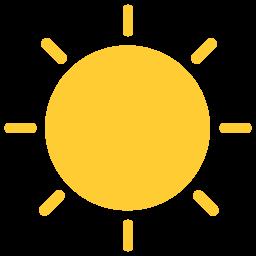 黄色太阳图标素材