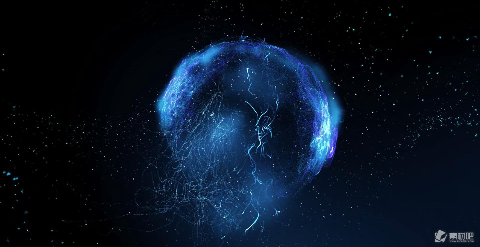 粒子世界三维合成