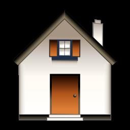 淡灰色房子图标
