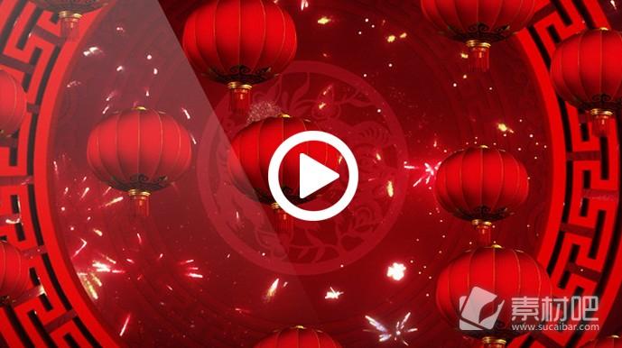 大红灯笼视频AE模板